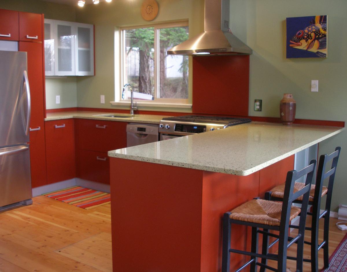 Island Kitchen (Cuisine Chaleureuse à l\'île)   Cuisines en Aluminium ...